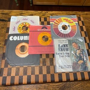LOT OF 5   45 RPM RECORDS LOT #11